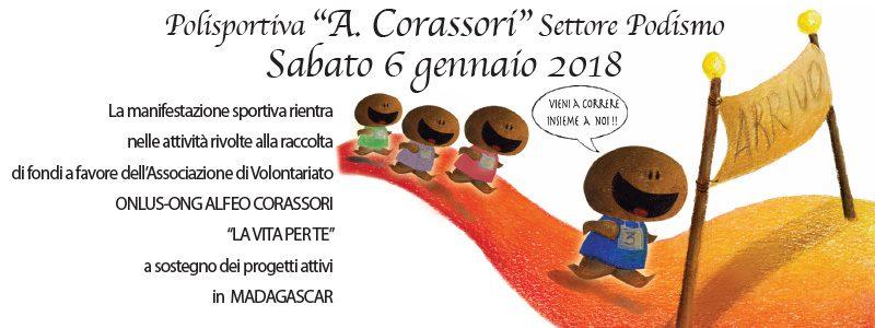 """6 gennaio: tutti al via della tradizionale corsa podistica della Polisportiva """"A. Corassori"""""""