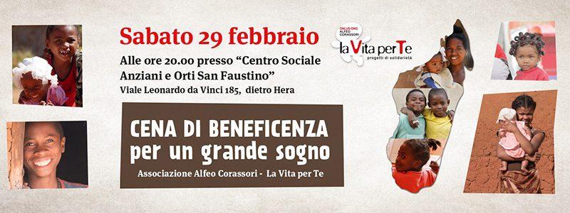 """Sabato 29 febbraio """"Cena di Beneficenza"""" EVENTO ANNULLATO"""